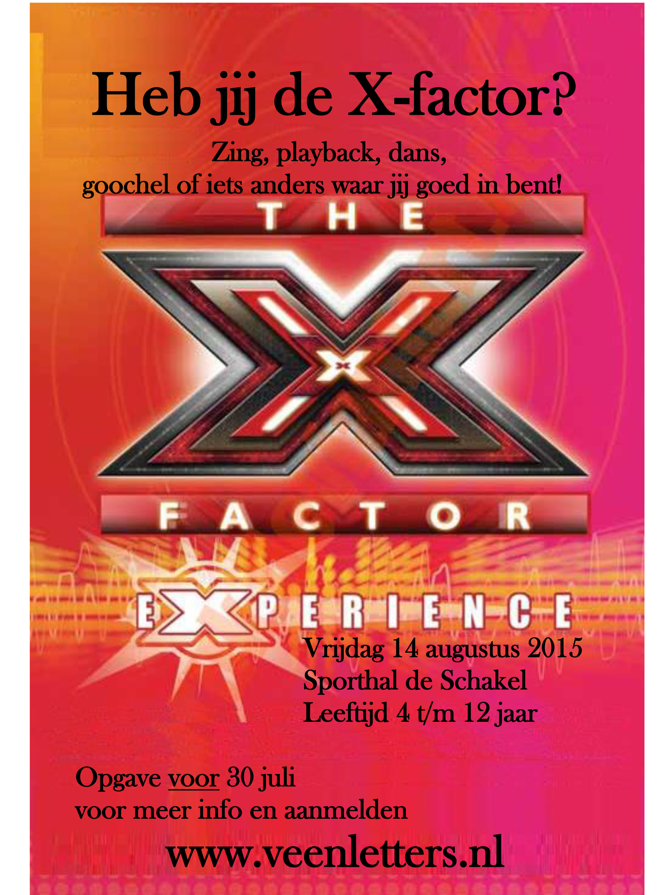 Poster Polderfeest X-factor