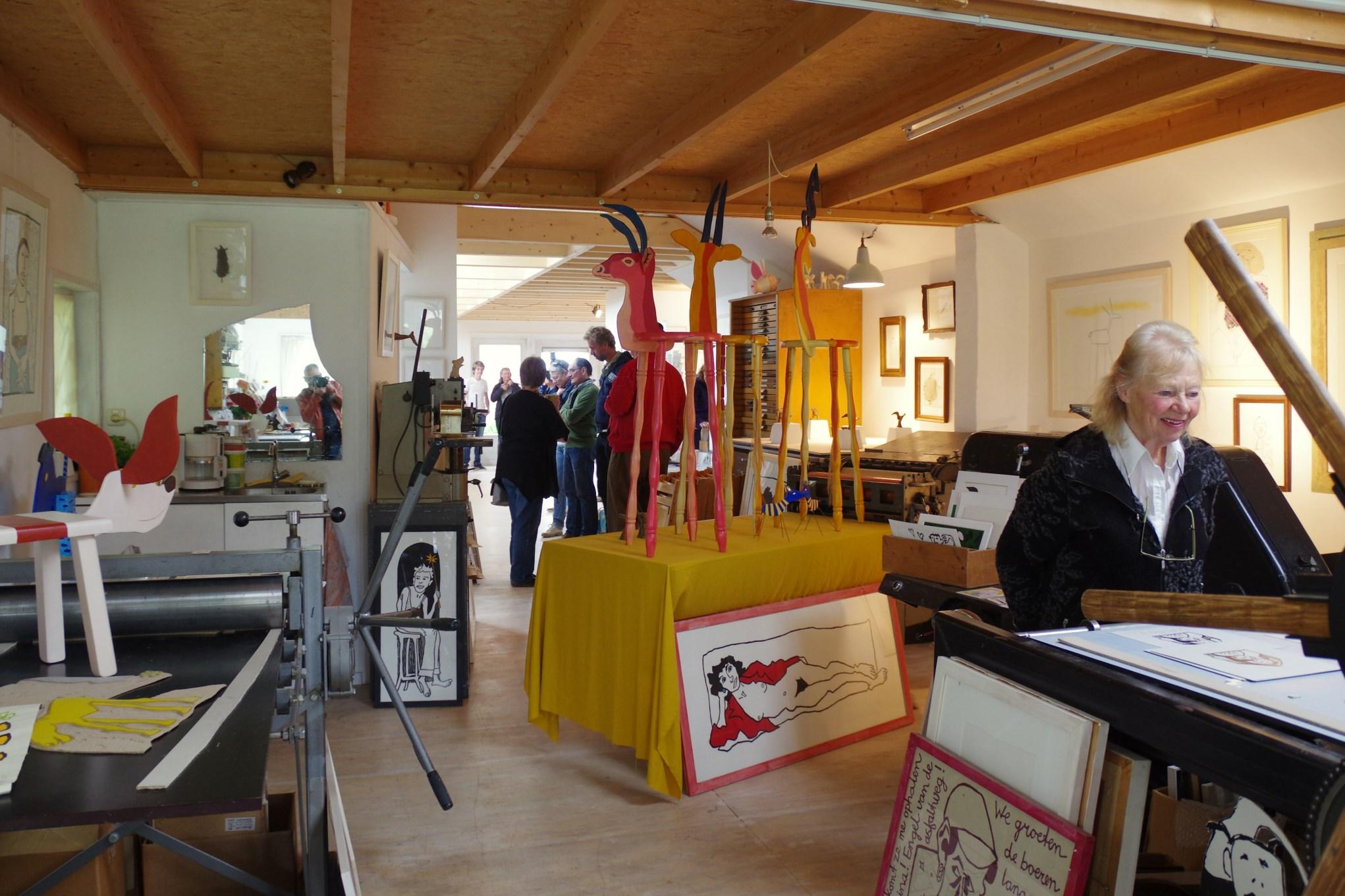 Opening expositieruimte Titi Zaadnoordijk