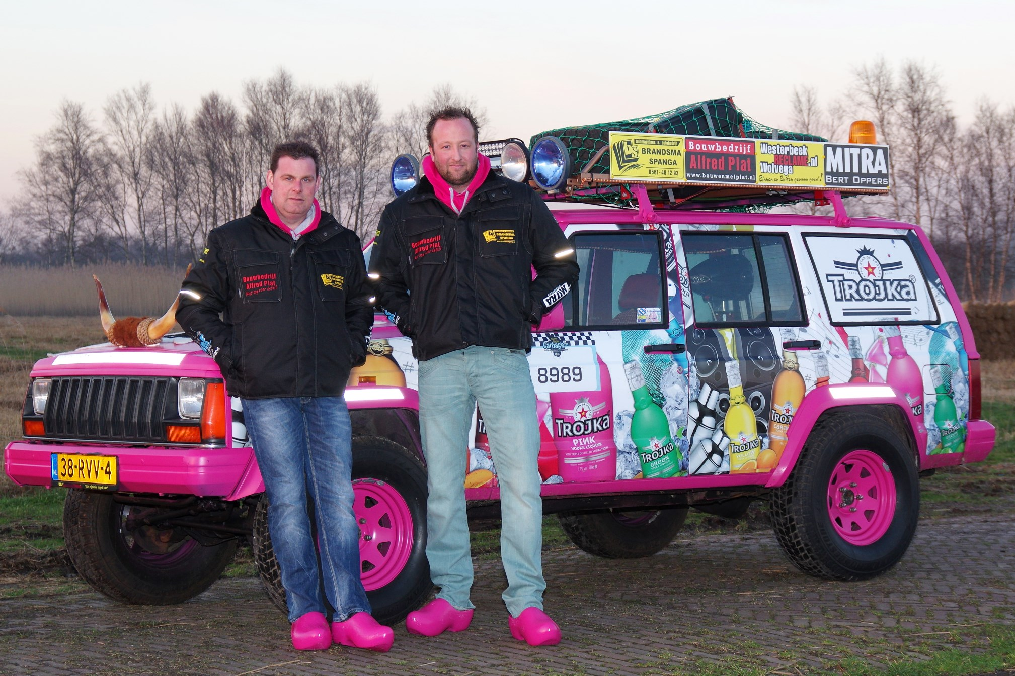 Trojka Pink barrel team door Europa Peter Brandsma