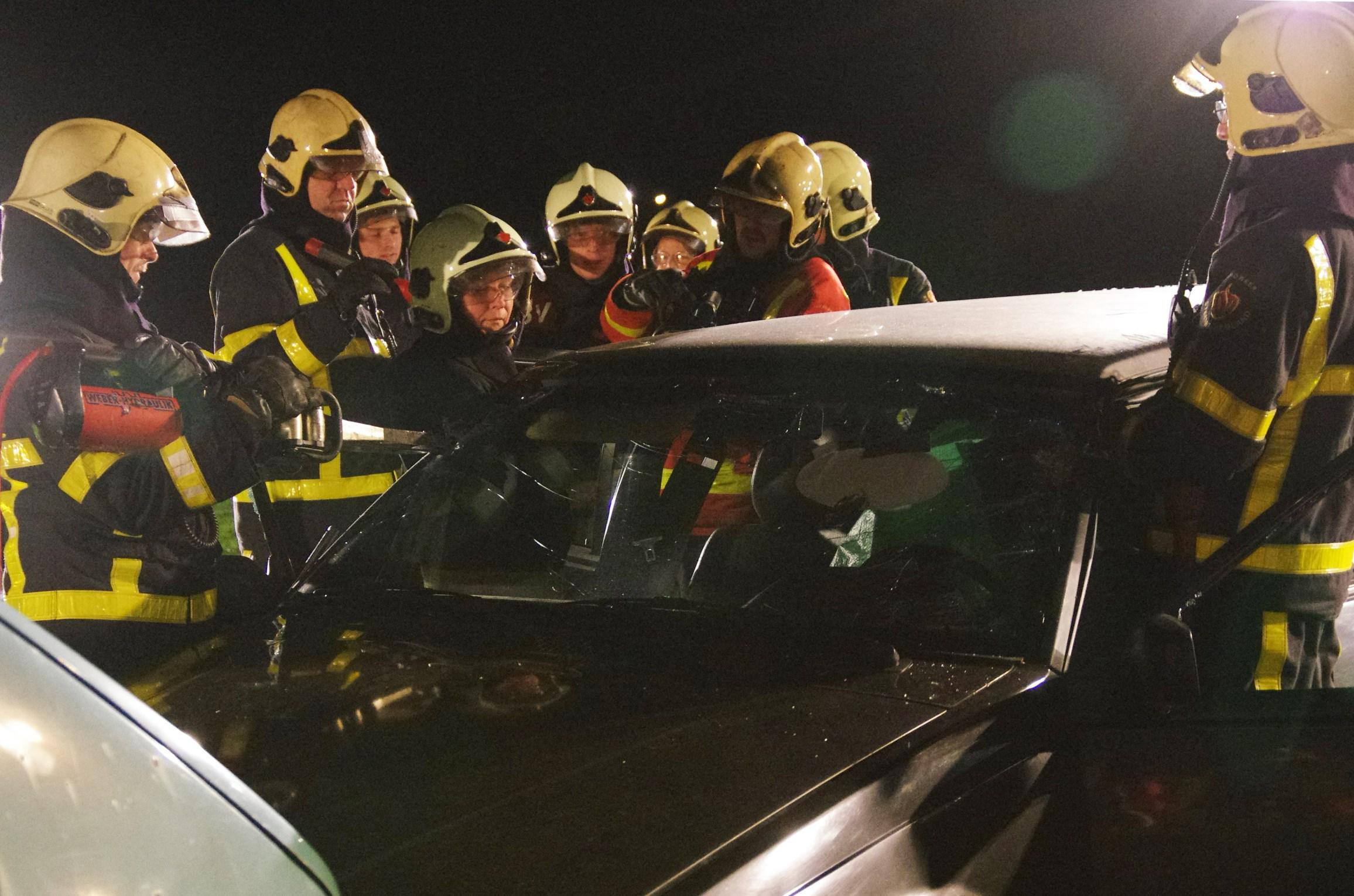 Oefening brandweer Scherpenzeel Kuinre
